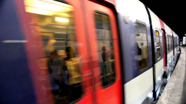Subway Train Leaving The Platform (France)
