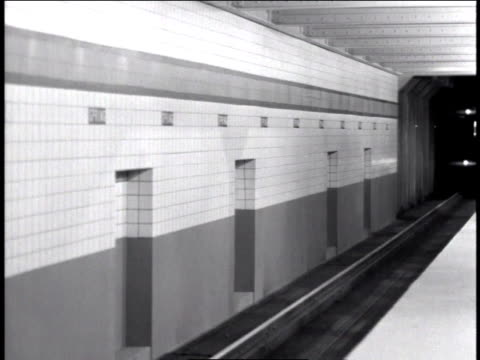 1947 ms subway train running through tunnel / new york, united states - new york city subway stock videos & royalty-free footage