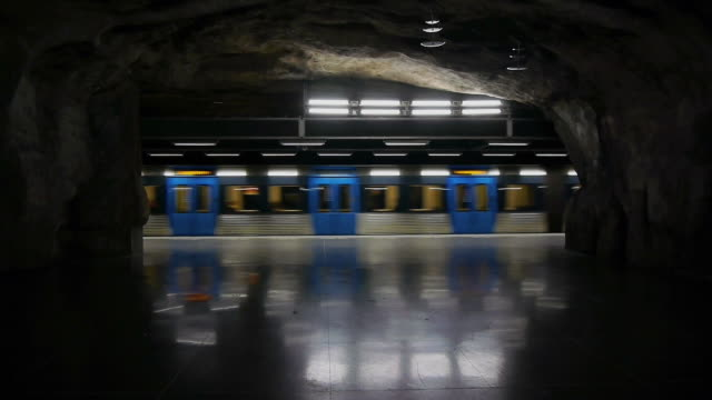 Subway train underground
