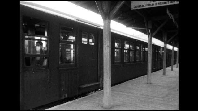 1966 nyc subway trains and conductors - transport conductor stock videos & royalty-free footage