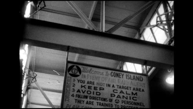 1966 nyc subway travels to coney island - coney island stock-videos und b-roll-filmmaterial