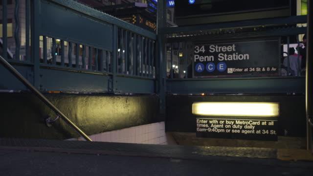 subway - new york city penn station stock videos & royalty-free footage