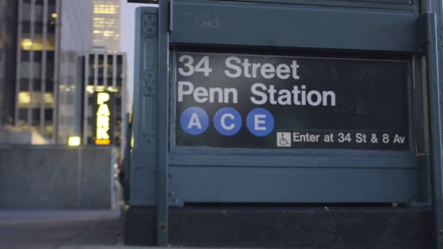 subway - new york city penn station stock videos and b-roll footage