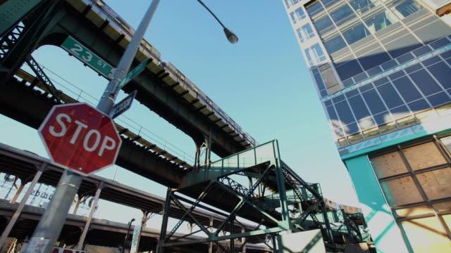 vídeos y material grabado en eventos de stock de subway - street name sign