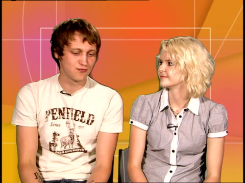 subways interview; the subways interview sot - on their cameo appearane on the oc / what it's like to be on a film set and how it inspired the song... - cameo brooch stock videos & royalty-free footage