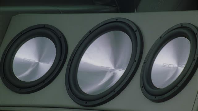 cu subwoofer vibrating  - loudspeaker stock videos & royalty-free footage