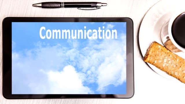 Success, business word cloud on digital tablet screen.
