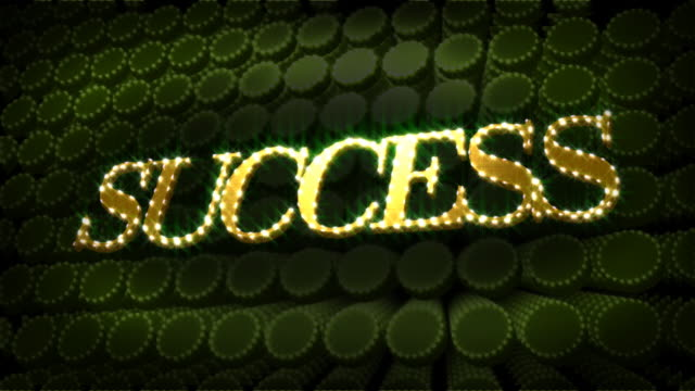 Success Glitter Glitz Sparkle Text