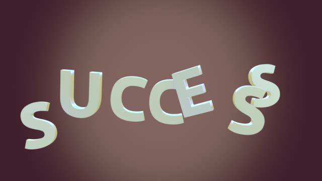 Success loop typography animation 4K