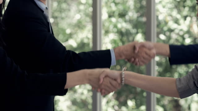 Success : Signing a contract and shaking hands
