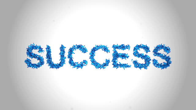 success symbol made by blue butterflies - alpha - hope concept stock videos and b-roll footage