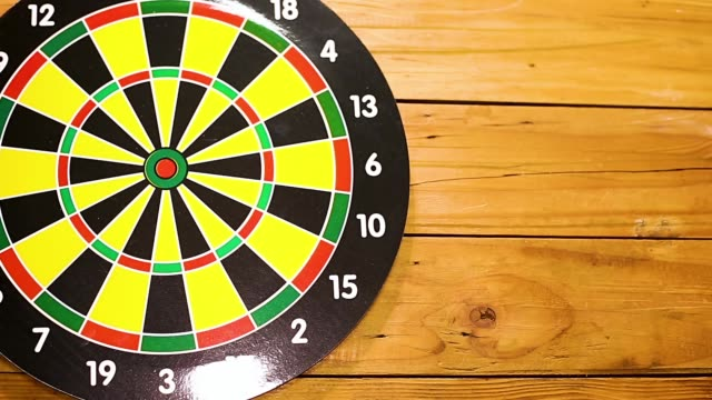 success target business concept - darts stock videos and b-roll footage
