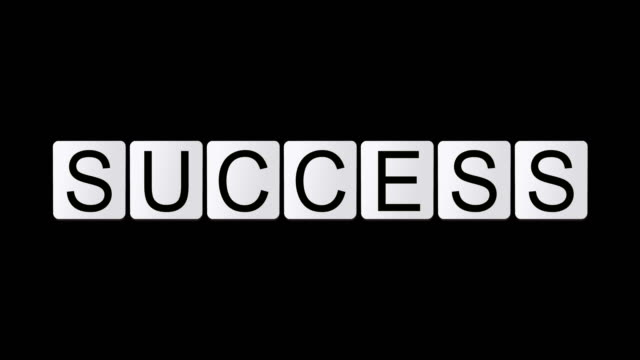 success - english language stock videos and b-roll footage