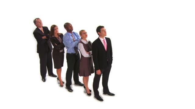 hd crane: successful business team - crane shot stock videos & royalty-free footage