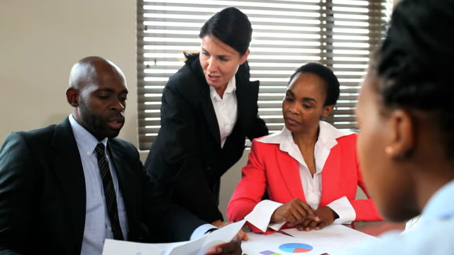 Successful multiracial business team