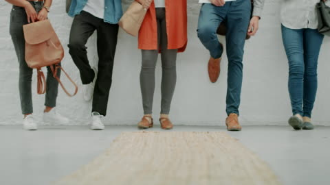 successful people have their feet firmly on the ground - waiting stock videos & royalty-free footage