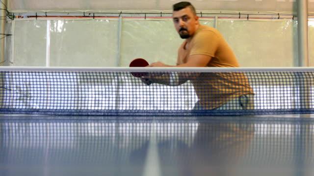 successful table tennis return shot - table tennis bat stock videos & royalty-free footage