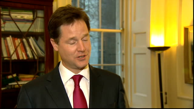 vídeos de stock, filmes e b-roll de nick clegg interview england london int nick clegg mp interview sot q where are we we will be presenting a new piece of legislation in succession to... - continuidade