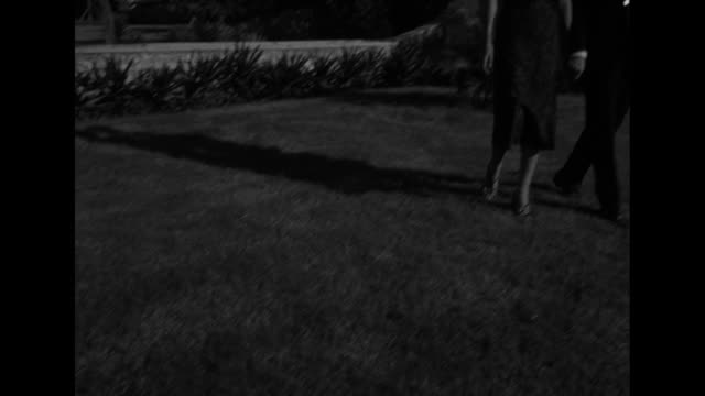 succulent agave plant with models on lawn; they stop as model lionel adjusts the sheer top of louise's black dress, which is designed by hannah troy... - short sleeved stock videos & royalty-free footage