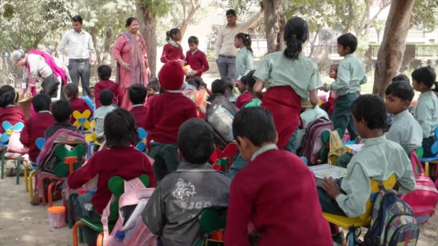 such schools provide children a formal education and a protective environment. most of the students here are first generation learners with their... - haryana stock-videos und b-roll-filmmaterial