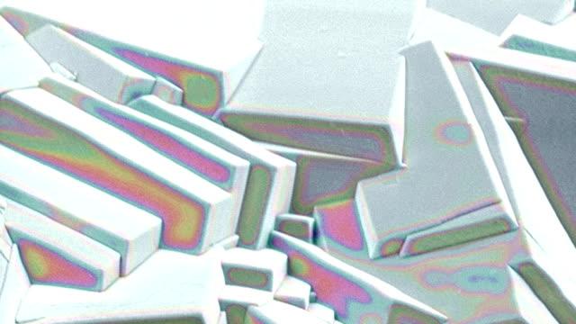sucrose crystals, sem - microscopio elettronico a scansione video stock e b–roll