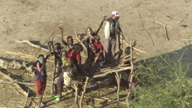 sudan : africans children - village stock videos and b-roll footage