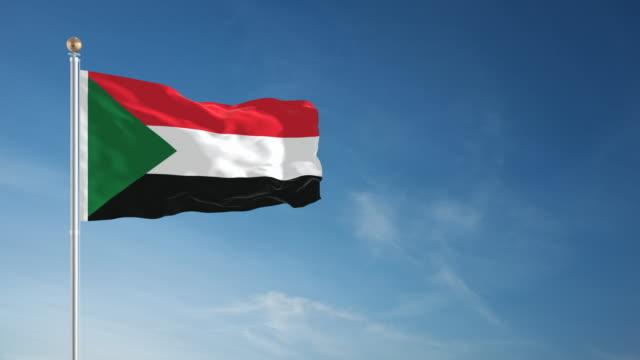 vídeos de stock, filmes e b-roll de 4 k bandeira do sudão-circulares - sudão
