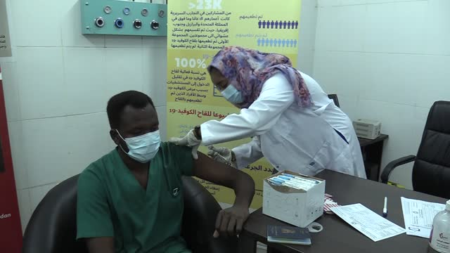 sudan has launched on wednesday, march 10, its vaccination campaign to stop the spread of covid-19. it came a week after the country received the... - industry stock videos & royalty-free footage