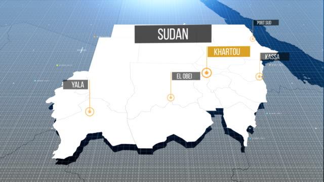Sudan Karte mit Etikett dann mit Etikett
