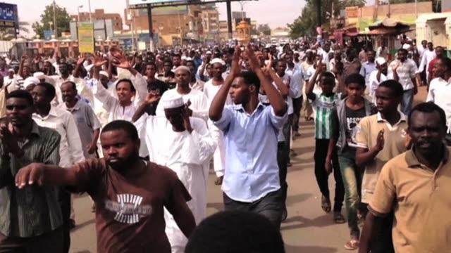sudan protest in various cities wrap on october 02 2013 in khartoum sudan - sudan stock videos & royalty-free footage