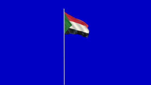 sudanese flag rising