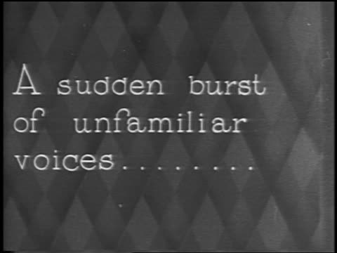"""b/w 1928 slate: """"a sudden burst of unfamiliar voices...."""" / newsreel - 1928 stock videos & royalty-free footage"""
