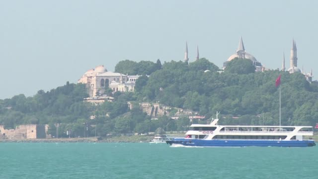 stockvideo's en b-roll-footage met sudden change in the colour of the bosphorus strait that divides the continents of europe and asia in turkey's largest city istanbul has surprised... - plankton
