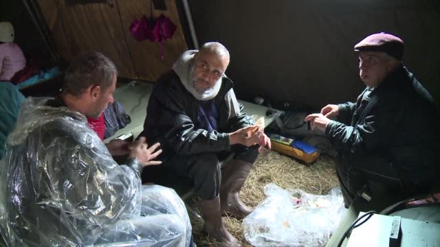 a sudden drop in temperatures and continuous rain in the balkans have become an obstacle for migrants trying to reach western europe and could lead... - hypothermia stock videos and b-roll footage