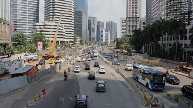 Sudirman Street in Jakarta