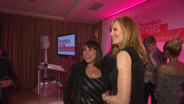 sue schwartz, marg helgenberger at the prevention magazine presents the 2nd annual prevention honors hollywood heroes event at west hollywood ca. - marg helgenberger stock videos & royalty-free footage