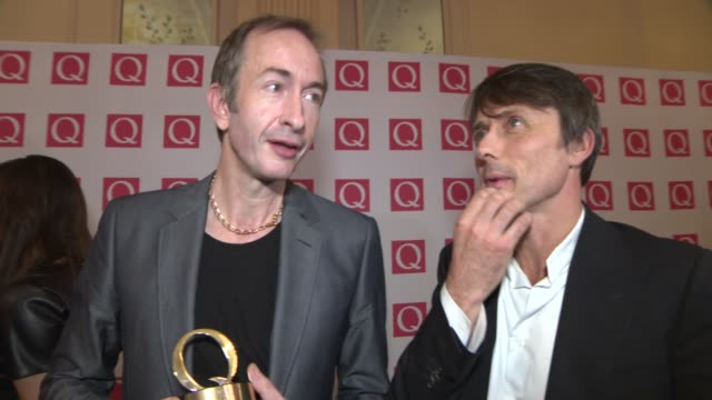 INTERVIEW Suede on winning the 'Q Icon' award at Q Awards 2013 at The Grosvenor House Hotel on October 21 2013 in London England