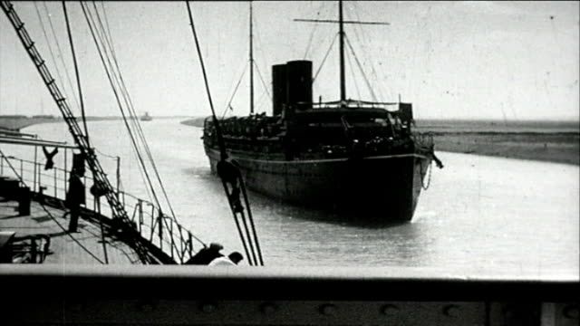 1925 suez canal - suez canal stock videos & royalty-free footage