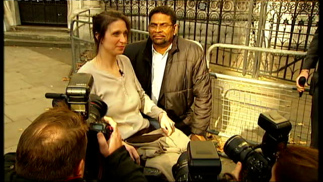 stockvideo's en b-roll-footage met sufferer debbie purdy asks high court to clarify law on assisted suicide; england: london: high court: ext various of debbie purdy and husband omar... - puente