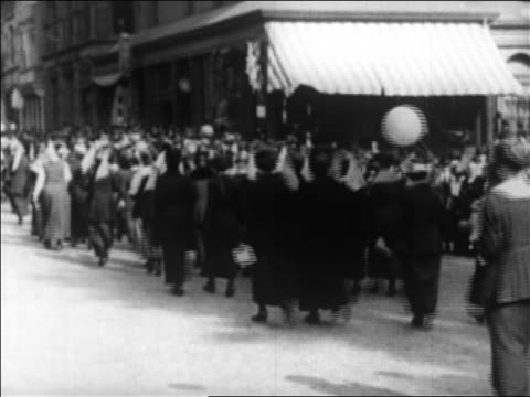 view suffragetes marching in victory parade / boston / newsreel - voting rights stock videos & royalty-free footage