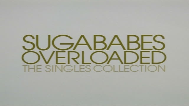 "sugababes interview and concert arrivals; close shot of poster advertising ""sugababes overloaded - the singles collection""/ vanessa feltz arrival for... - vanessa feltz stock videos & royalty-free footage"