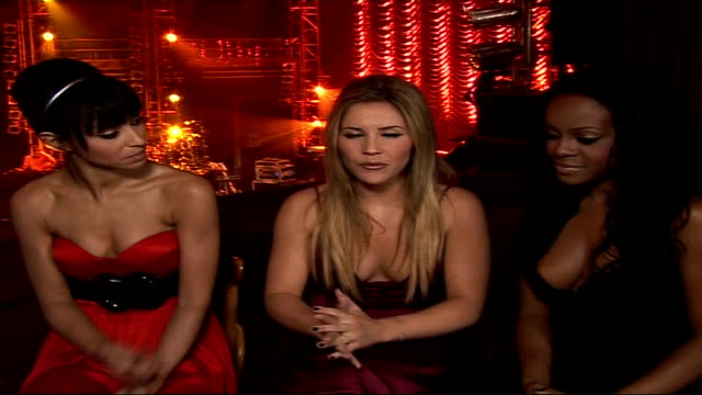 sugababes interview and concert arrivals; england: london: dominion theatre: int heidi range, keisha buchanan and amelle berrabah interview about... - the dominion theatre stock videos & royalty-free footage