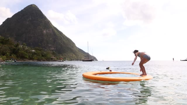 sugar beach,st. lucia - st lucia stock videos & royalty-free footage