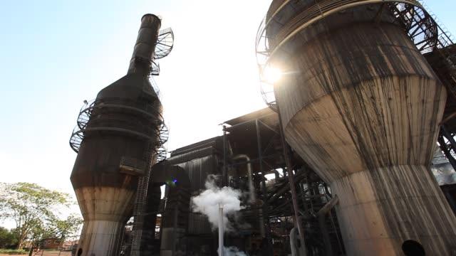 vídeos de stock, filmes e b-roll de sugar cane production and sugar cane alcohol plant - sugar cane