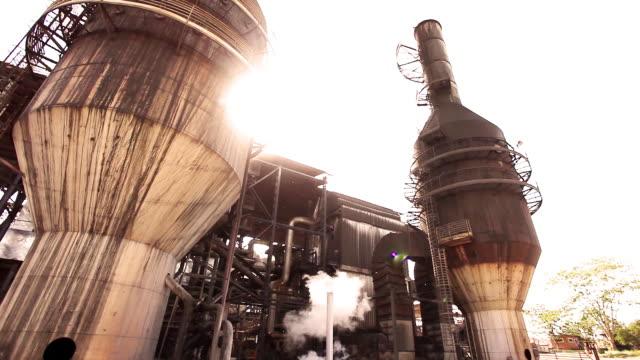 sugar cane production and sugar cane alcohol plant - 食品工場点の映像素材/bロール
