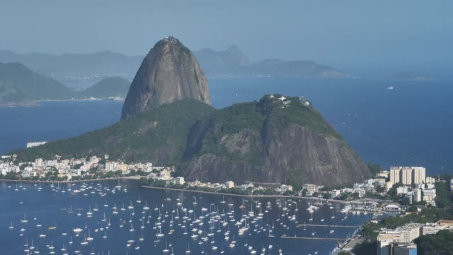 sugar hut in the afternoon - rio de janeiro stock videos & royalty-free footage