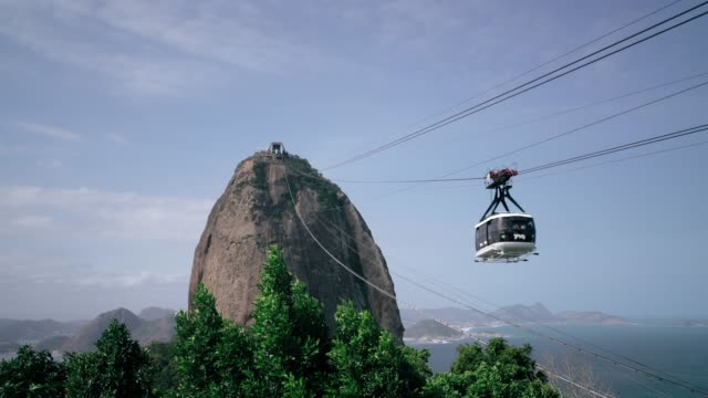 sugar loaf mountain cable car, rio de janeiro, brazil - tourism stock videos & royalty-free footage