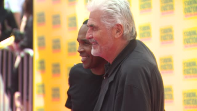 sugar ray leonard and james brolin at the 'standing ovation' premiere at universal city ca. - james brolin stock videos & royalty-free footage