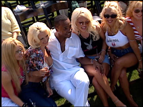 sugar ray leonard at the playboy fight night at playboy mansion in los angeles california on july 9 2002 - playboy magazine stock videos and b-roll footage