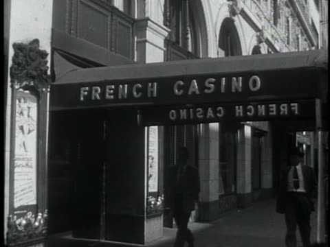 sugar ray robinson accepts an offer to host a revue at the french casino, a nightclub located in the hotel paramount in new york city. - burlesque style stock videos & royalty-free footage